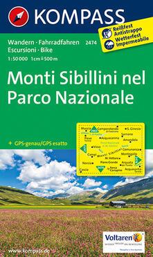 Festivalpatudocanario.es Carta escursionistica n. 2474. Monti Sibillini nel parco nazionale 1:50.000 Image