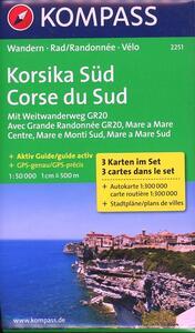 Carta escursionistica n. 2251. Korsika Süd-Corse du Sud 1:50.000. Ediz. tedesca e francese - copertina