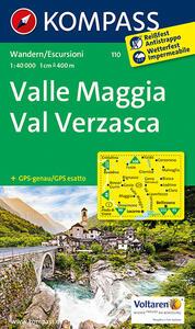 Carta escursionistica n. 110. Valle Maggia-val Verzasca 1:40.000. Adatto a GPS - copertina