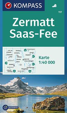 Daddyswing.es Carta escursionistica n. 117. Zermatt, Saas Fee 1:40.000 Image