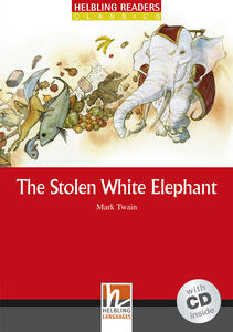 The Stolen White Elephant. Livello 3 (A2). Con CD Audio - Mark Twain - copertina