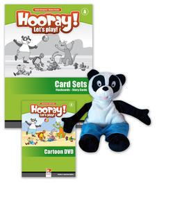 Hooray! Let's play! Level A. Visual pack (story cards, flashcards, hand puppet) - Herbert Puchta,Günter Gerngross - copertina