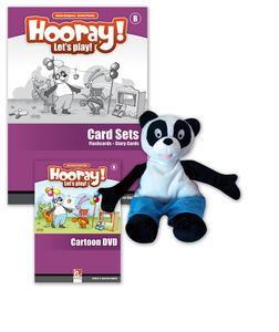 Hooray! Let's play! Level B. Visual pack (story cards, flashcards, hand puppet)