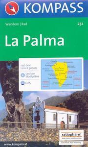 Carta escursionistica n. 232. Spagna. Isole Canarie. La Palma 1:50.000. Adatto a GPS. Digital map. DVD-ROM - copertina