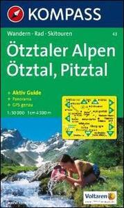Carta escursionistica n. 43. Austria. Tirolo... Ötztaler Alpen, Ötztal, Pitztal. Con carta panoramica. Adatto a GPS. DVD-ROM. Digital map - copertina