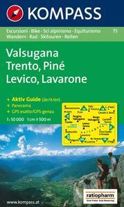 Carta escursionistica n. 75. Trentino, Veneto. Trento, Lévico, Lavarone 1:50.000 - copertina