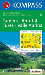 Carta escursionistica n. 82. Tures, Valle Aurina 1:50.000. Adatto a GPS. Digital map. DVD-ROM