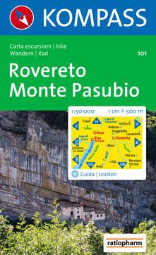 Milanospringparade.it Carta escursionistica n. 101. Rovereto, Monte Pasubio 1:50.000 Image