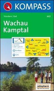 Carta escursionistica n. 207. Austria. Ad est delle Alpi. Vienna, Stiria... Wachau, Nibelungengau 1:50.000. DVD-ROM digital map