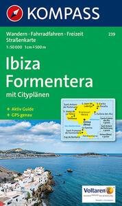 Carta escursionistica n. 239. Spagna. Baleari. Ibiza, Formentera 1:50.000. Adatto a GPS. Digital map. DVD-ROM - copertina