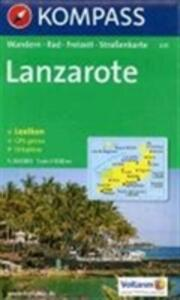 Carta escursionistica n. 241. Spagna. Isole Canarie. Lanzarote 1:50.000. Adatto a GPS. Digital map. DVD-ROM - copertina