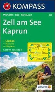 Carta escursionistica n. 030. Austria superiore. Zell am See, Kaprun, Europa Sport Region 1:30.000. Con carta panoramica - copertina