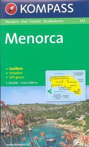 Carta escursionistica n. 243. Spagna. Baleari. Menorca 1:50.000. Adatto a GPS. Digital map. DVD-ROM