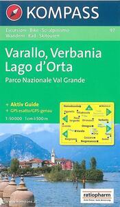 Carta escursionistica n. 97. Laghi settentrionali. Omegna, Varallo, Lago d'Orta 1:50000