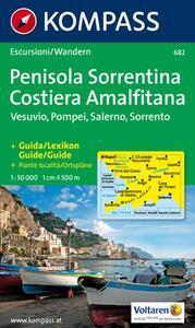 Carta escursionistica n. 682. Golfo di Napoli. Penisola sorrentina 1:50.000
