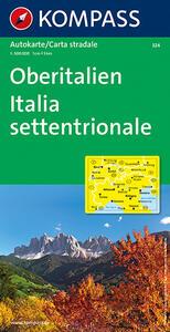 Carta automobilistica n. 324. Italia settentrionale-Oberitalien 1:500.000. Ediz. bilingue - copertina