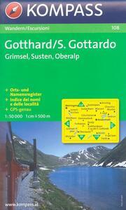 Carta escursionistica n. 108. Svizzera, Alpi occidentali. S. Gottardo, Grimsel, Susten, Oberalp 1:50.000. Adatto a GPS. Digital map. DVD-ROM - copertina