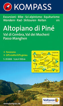 Voluntariadobaleares2014.es Carta escursionistica n. 075. Trentino, Veneto. Altopiano di Piné, Val dei Mocheni 1:35.000 Image