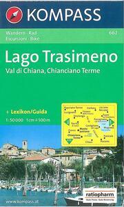 Carta escursionistica n. 662. Toscana, Umbria, Abruzzi. Lago Trasimeno, Val di Chiana, Chianciano Terme 1:50.000 - copertina