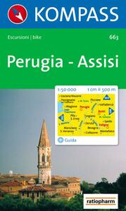 Carta escursionistica n. 663. Toscana, Umbria, Abruzzi. Perugia, Assisi 1:50.000 - copertina