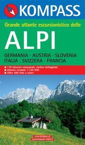 Atlante escursionistico n. 603. Grande atlante escursionistico delle Alpi - copertina