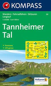 Carta escursionistica n. 04. Austria. Tirolo. Dall'Arlberg al massiccio del Wilder Kaiser. Tannheimer 1:35.000. Con carta panoramica. Adatto a GPS. DVD-ROM dig. map - copertina