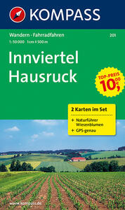 Carta escursionistica n. 201. Austria. Ad est delle Alpi. Vienna, Stiria... Innviertel, Hausruckwald 1:50.000 (set con due carte). Adatto a GPS. DVD-ROM digital map - copertina