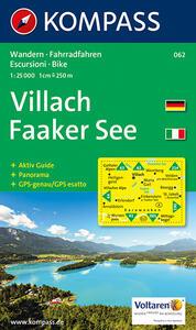 Carta escursionistica n. 062. Austria. Carinzia. Villach, Faaker See 1:25.000. Con carta panoramica. Adatto a GPS. DVD-ROM digital map - copertina