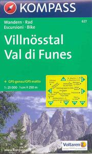 Carta escursionistica n. 627. Val di Funes 1:25.000. Adatto a GPS. Digital map. DVD-ROM - copertina