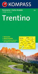 Carta panoramica n. 354. Trentino 1:50.000. Con carta stradale - copertina