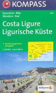 Carta escursionistica n. 642. Costa Azzurra, Liguria. Costa ligure, Finale Ligure, Savona 1:50.000 - copertina
