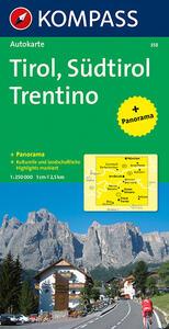 Carta panoramica n. 358. Tirolo. Alto Adige, Trentino-Tirol, Südtirol, Trentino 1:50.000. Con carta stradale - copertina