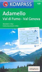 Carta escursionistica n. 638. Trentino, Veneto. Adamello, val di Fumo, val Genova 1:25.000. Adatto a GPS. Digital map. DVD-ROM - copertina