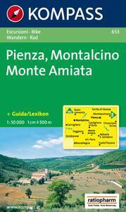 Carta escursionistica n. 653. Toscana, Umbria, Abruzzi. Pienza, Montalcino, Monte Amiata 1:50.000 - copertina