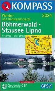 Carta escursionistica n. 2024. Repubblica Ceca. Böhmerwald/Stausee Lipno 1:50.000. Adatto a GPS. DVD-ROM digital map - copertina
