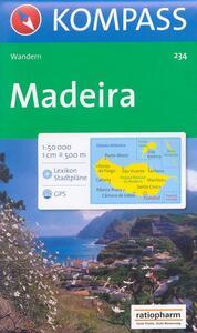Carta escursionistica n. 234. Portogallo. Madeira 1:50.000. Adatto a GPS. Digital map. DVD-ROM - copertina