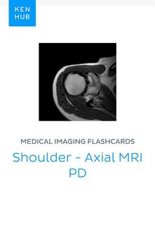 Medical Imaging flashcards: Shoulder - Axial MRI PD