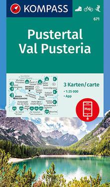 Museomemoriaeaccoglienza.it Carta escursionistica n. 671. Val Pusteria - Pustertal 1:25.000 (set di 3 carte) Image