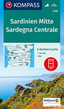 Camfeed.it Carta escursionistica n. 2498. Sardegna Centrale 1:50.000 (set di 4 carte) Image