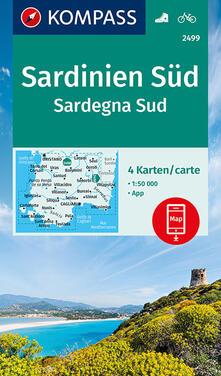 Nordestcaffeisola.it Carta escursionistica n. 2499. Sardegna Sud 1:50.000 (set di 4 carte) Ediz. italiana e tedesca Image