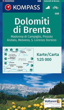 Mercatinidinataletorino.it Carta escursionistica n. 688. Gruppo di Brenta, Madonna di Campiglio 1:25.000 Image