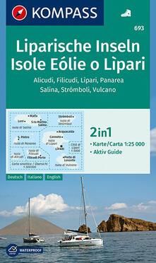 Promoartpalermo.it Carta escursionistica n. 693. Isole Eolie e Lipar 1:25.000. Ediz. italiana, tedesca e inglese Image