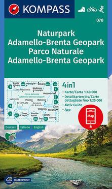 Daddyswing.es Carta escursionistica n. 070. Parco Naturale Adamello, Brenta 1:40.000. Ediz. italiana, tedesca e inglese Image