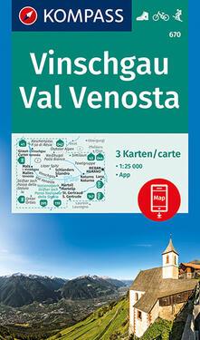 Winniearcher.com Carta escursionistica n. 670. Val Venosta-Vinschgau 1:25.000 (set di 3 carte) Image
