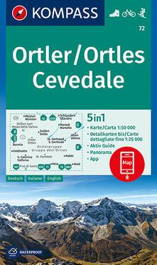 Listadelpopolo.it Carta escursionistica n. 72. Ortles-Ortler, Cevedale 1:50.000. Ediz. italiana, tedesca e inglese Image