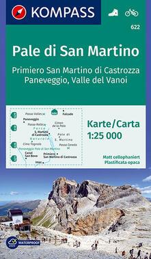 Voluntariadobaleares2014.es Carta escursionistica n. 622. Pale di San Martino, Primiero San Martino di Castrozza 1:25.000 Image