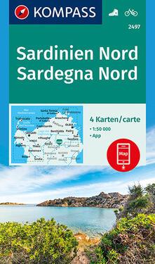 Filmarelalterita.it Carta escursionistica n. 2497. Sardegna Nord 1:50.000 (set di 4 carte). Ediz. italiana e tedesca Image