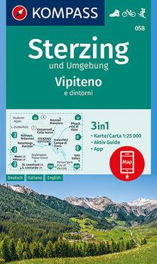 Grandtoureventi.it Carta escursionistica n. 058. Vipiteno e dintorni 1:25.000. Ediz. italiana, tedesca e inglese Image
