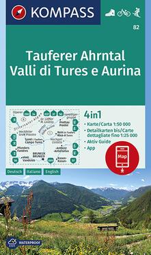 Squillogame.it Carta escursionistica n. 82. Valli di Tures e Aurina 1:50.000. Ediz. italiana, tedesca e inglese Image
