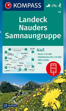 Tegliowinterrun.it Carta escursionistica n. 42 Landeck, Nauders, Samnaungruppe 1:50.000 Image
